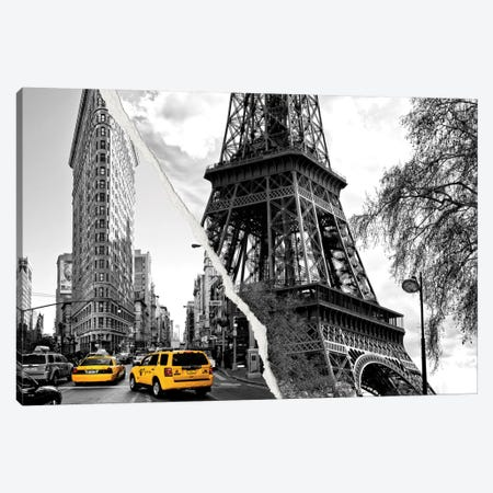 Dual Torn Series - Paris New York Canvas Print #PHD32} by Philippe Hugonnard Art Print