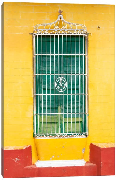 Colorful Cuban Window Canvas Art Print
