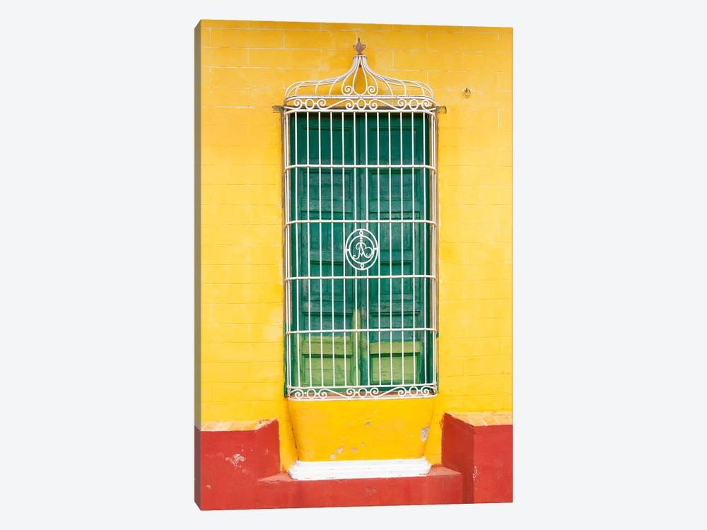 Colorful Cuban Window by Philippe Hugonnard 1-piece Canvas Art Print