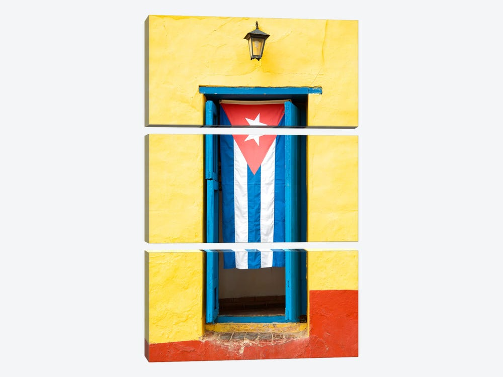 Cuban Flag by Philippe Hugonnard 3-piece Canvas Art