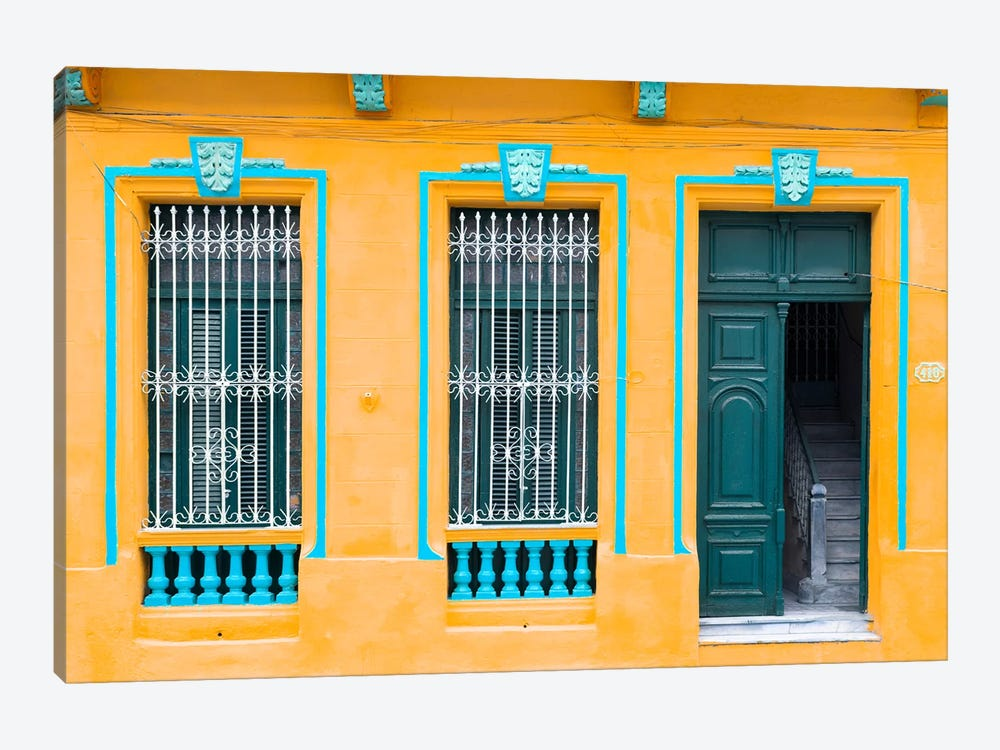 Cuba Fuerte Collection - Havana Orange Façade by Philippe Hugonnard 1-piece Art Print
