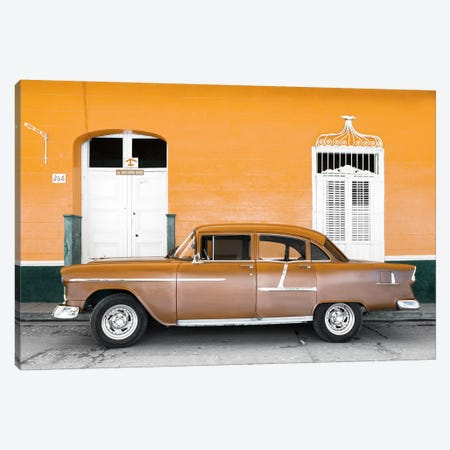 Old Orange Car   3-Piece Canvas #PHD337} by Philippe Hugonnard Canvas Art Print