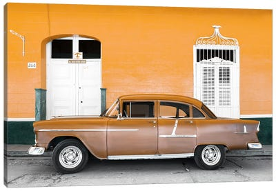 Old Orange Car   Canvas Art Print