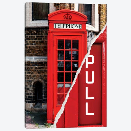 Pull - London Booth Canvas Print #PHD33} by Philippe Hugonnard Art Print