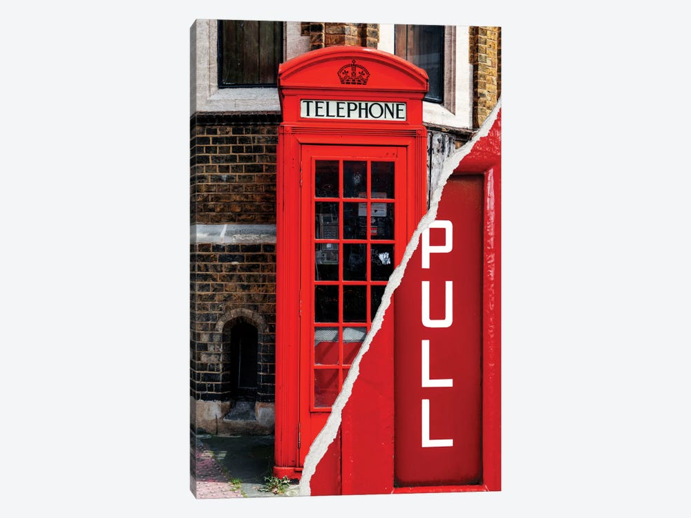 Dual Torn Series - Pull - London Booth by Philippe Hugonnard 1-piece Canvas Wall Art