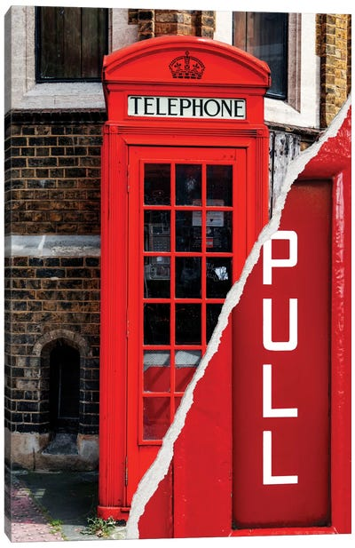 Pull - London Booth Canvas Art Print