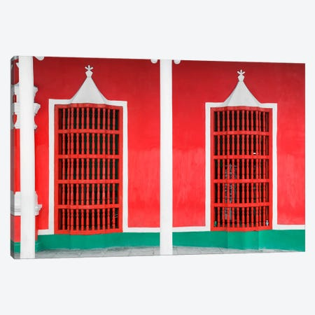 Red Facade Canvas Print #PHD340} by Philippe Hugonnard Canvas Print