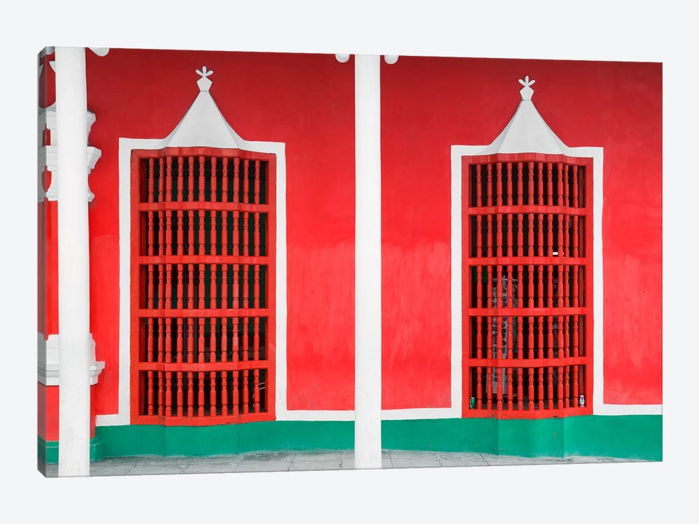 Red Facade 1-piece Canvas Wall Art