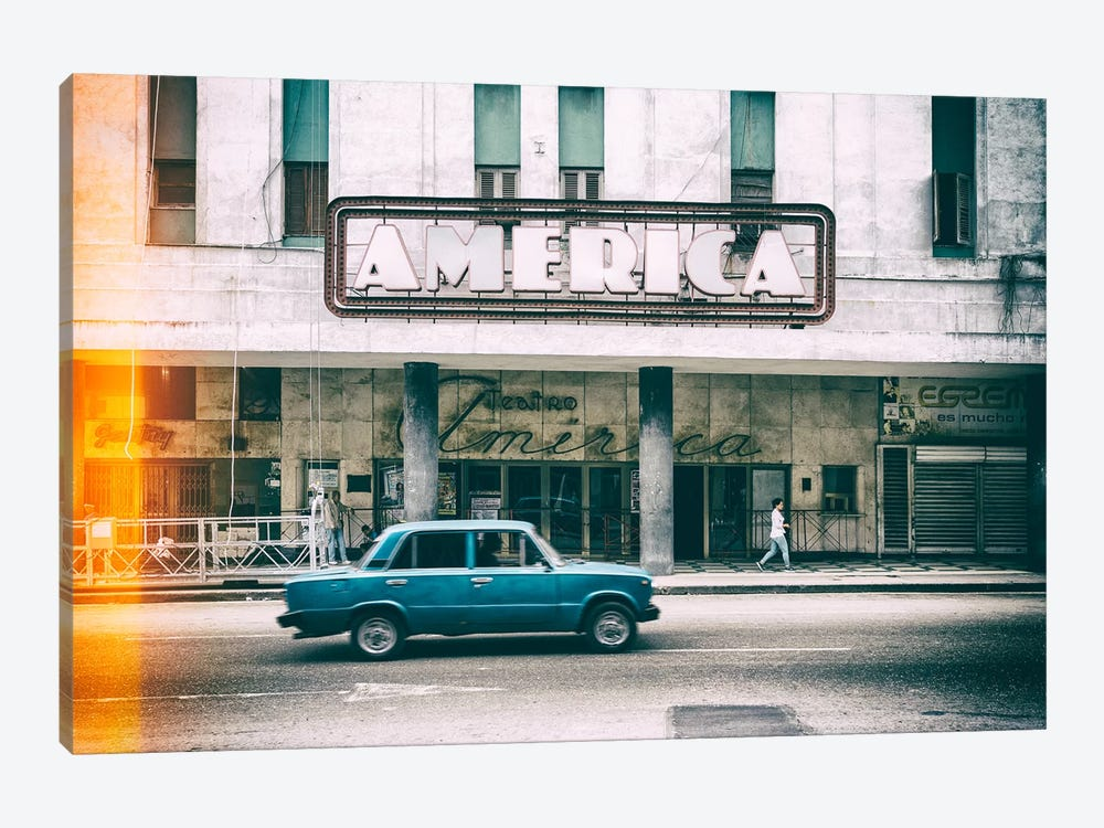 Cuba Fuerte Collection - Teatro America in Havana II by Philippe Hugonnard 1-piece Canvas Print
