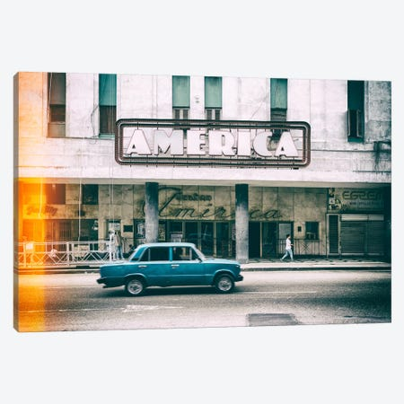 Teatro America in Havana II 3-Piece Canvas #PHD341} by Philippe Hugonnard Art Print