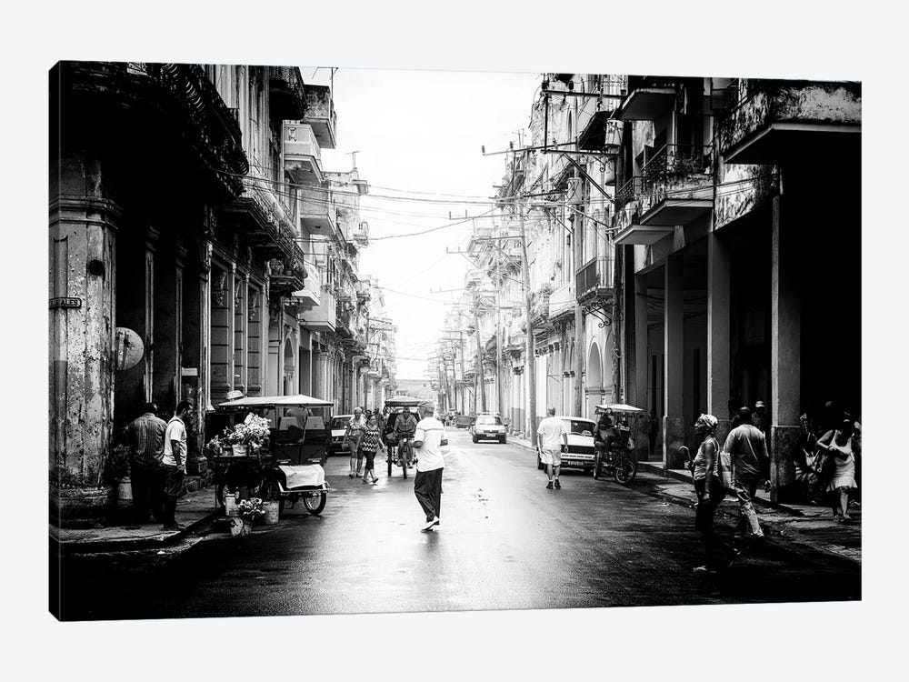 Old Havana Street in B&W by Philippe Hugonnard 1-piece Canvas Print