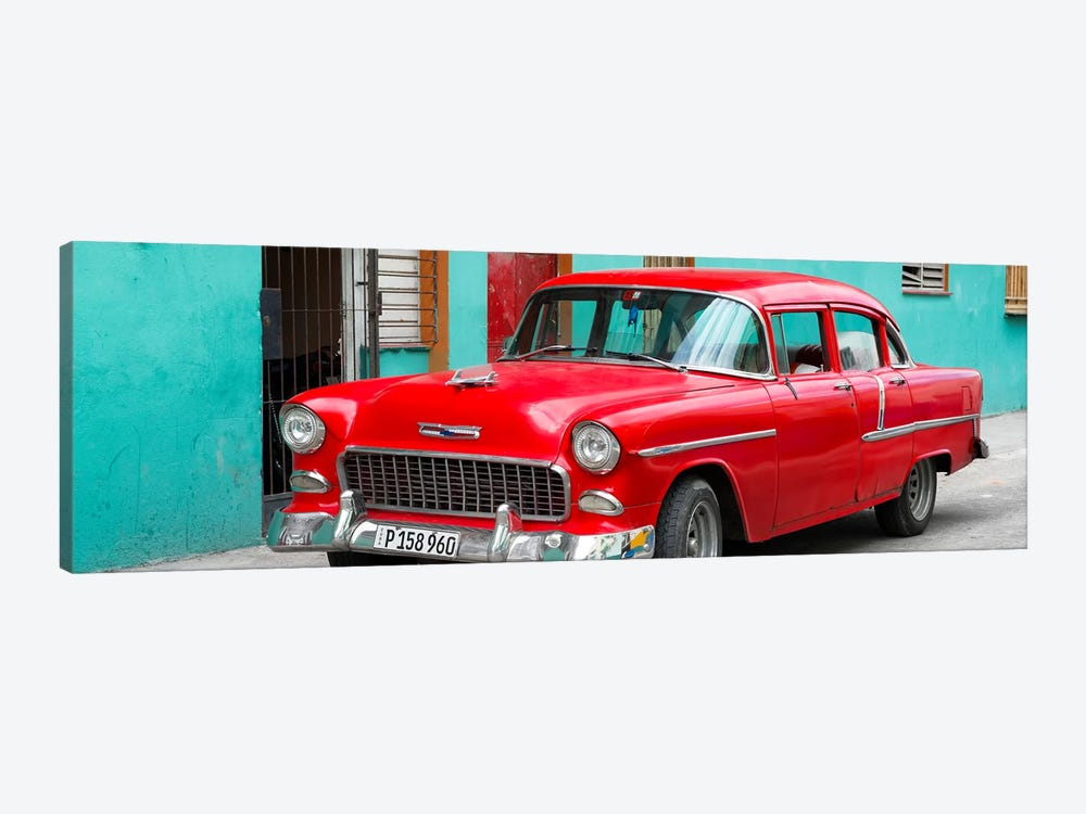 Beautiful Classic American Red Car by Philippe Hugonnard 1-piece Art Print