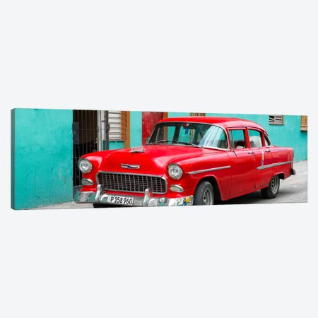 Beautiful Classic American Red Car Canvas Print #PHD349} by Philippe Hugonnard Art Print