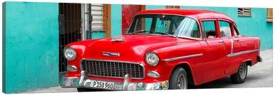 Beautiful Classic American Red Car Canvas Art Print