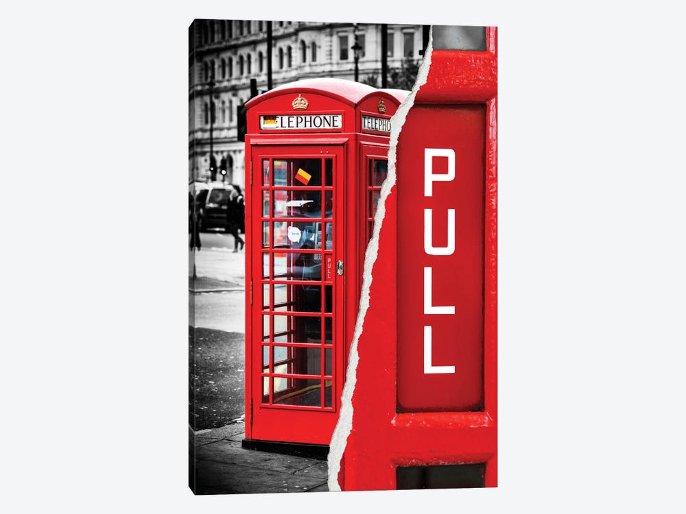 Red Phone Booth by Philippe Hugonnard 1-piece Art Print
