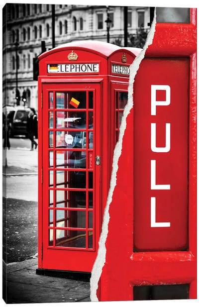 Red Phone Booth Canvas Art Print