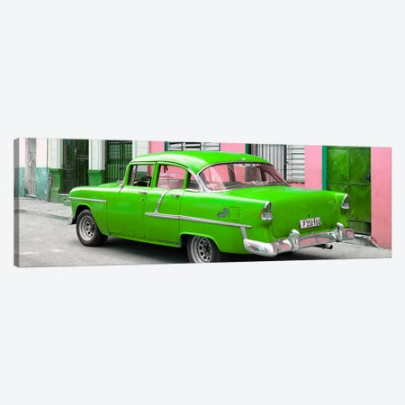 Cuban Green Classic Car in Havana Canvas Print #PHD350} by Philippe Hugonnard Canvas Artwork