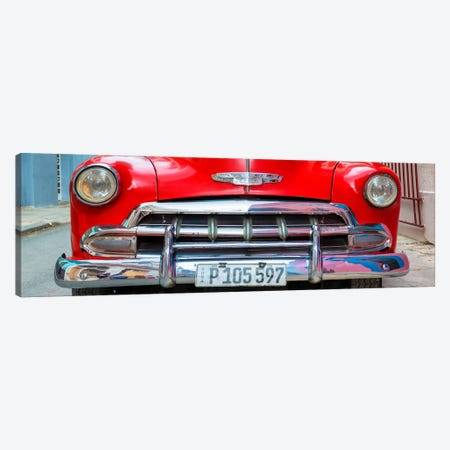 Detail on Red Classic Chevy Canvas Print #PHD351} by Philippe Hugonnard Canvas Artwork