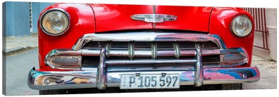 Detail on Red Classic Chevy Canvas Art Print