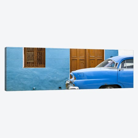 Havana Blue Street Canvas Print #PHD352} by Philippe Hugonnard Canvas Artwork