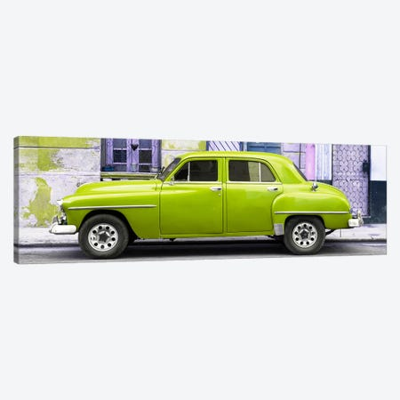 Lime Green Classic American Car Canvas Print #PHD353} by Philippe Hugonnard Canvas Art