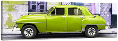 Lime Green Classic American Car Canvas Art Print