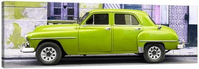 Lime Green Classic American Car Canvas Art Print