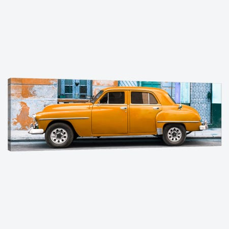 Orange Classic American Car Canvas Print #PHD355} by Philippe Hugonnard Canvas Print