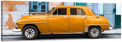 Orange Classic American Car Canvas Art Print