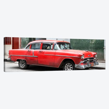 Red Chevy  Canvas Print #PHD357} by Philippe Hugonnard Canvas Art Print