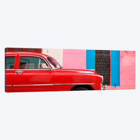 Red Chevy in Havana Canvas Print #PHD358} by Philippe Hugonnard Canvas Wall Art