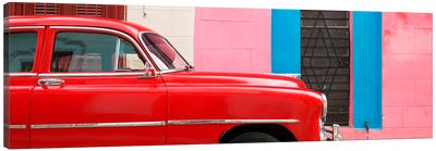 Red Chevy in Havana Canvas Art Print
