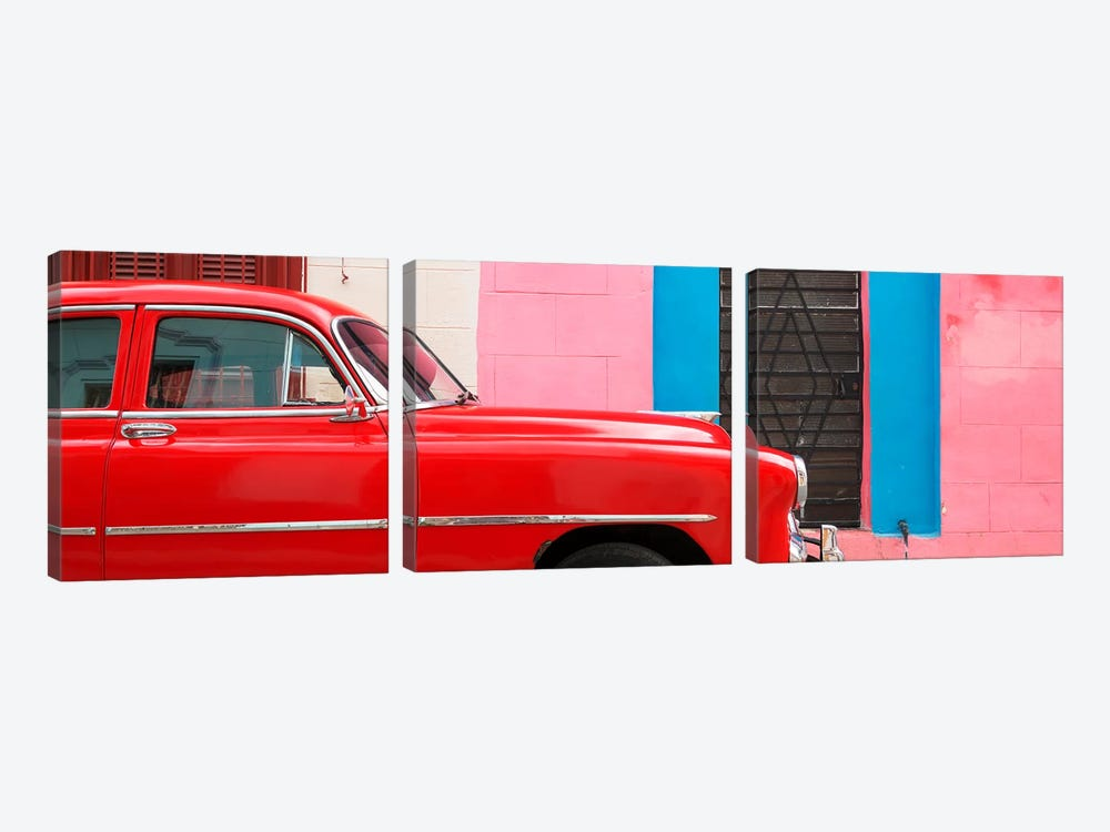 Red Chevy in Havana by Philippe Hugonnard 3-piece Canvas Print