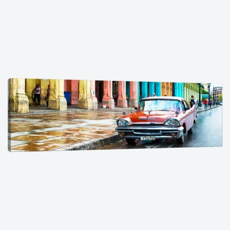 Red Taxi of Havana Canvas Print #PHD359} by Philippe Hugonnard Canvas Art