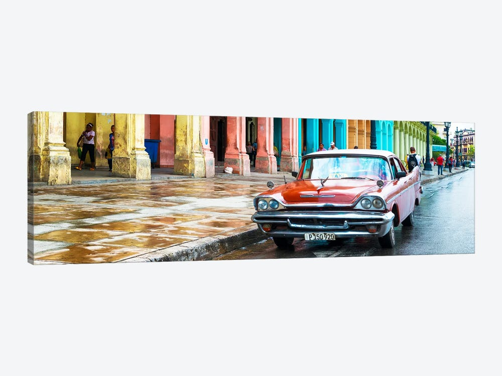 Red Taxi of Havana by Philippe Hugonnard 1-piece Canvas Art