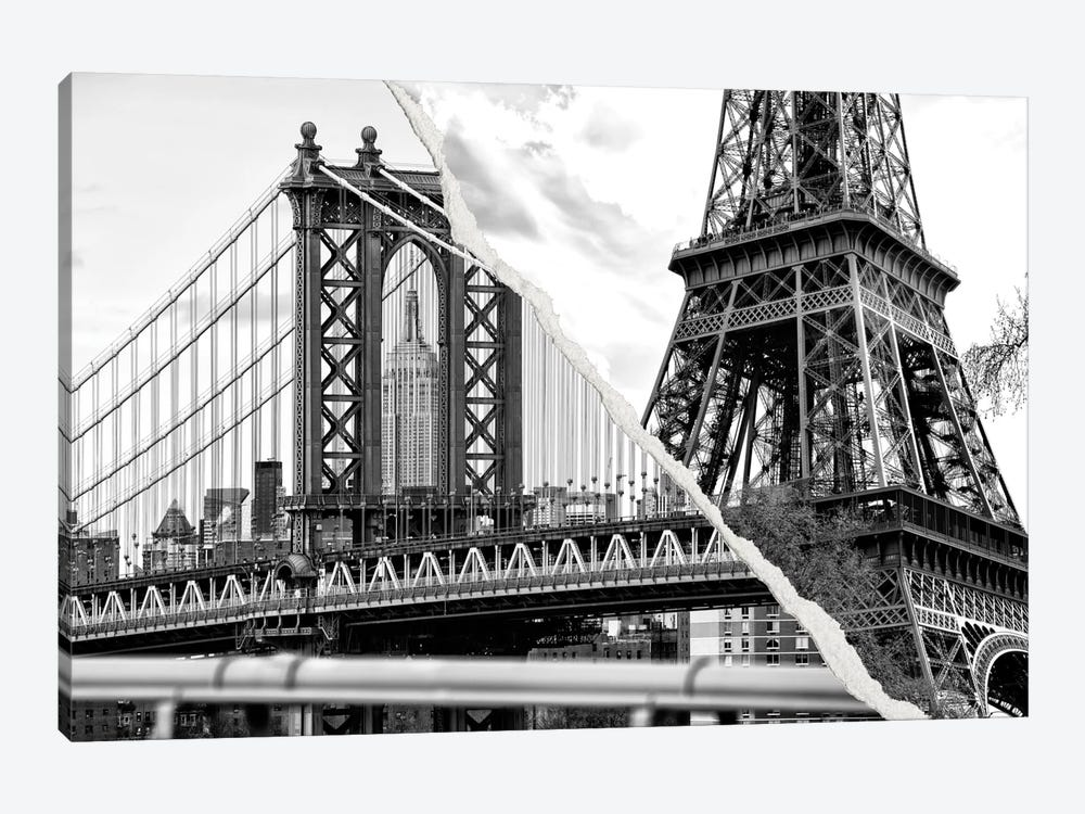 Dual Torn Series - The Tower and the Bridge by Philippe Hugonnard 1-piece Canvas Artwork