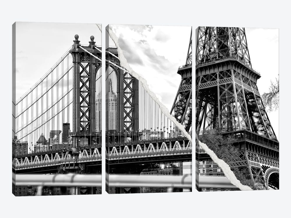 Dual Torn Series - The Tower and the Bridge by Philippe Hugonnard 3-piece Canvas Art
