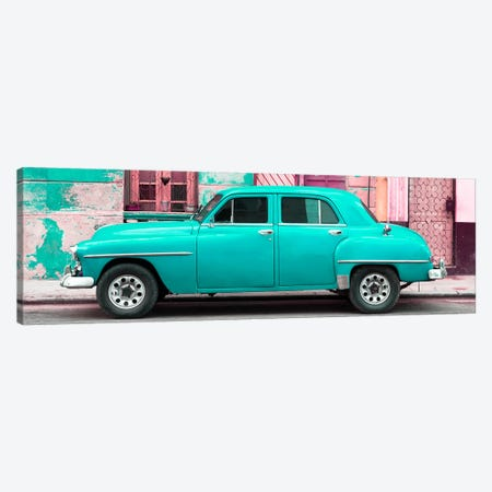Turquoise Classic American Car Canvas Print #PHD360} by Philippe Hugonnard Canvas Print