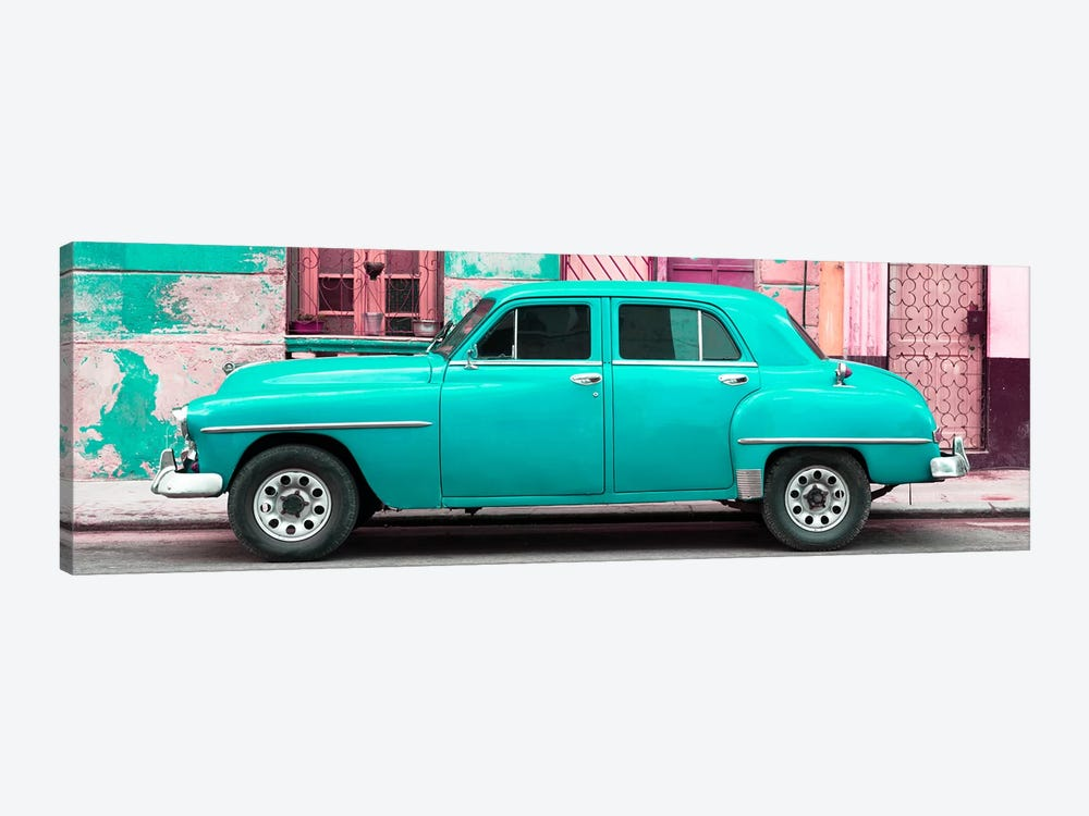 Turquoise Classic American Car by Philippe Hugonnard 1-piece Canvas Artwork