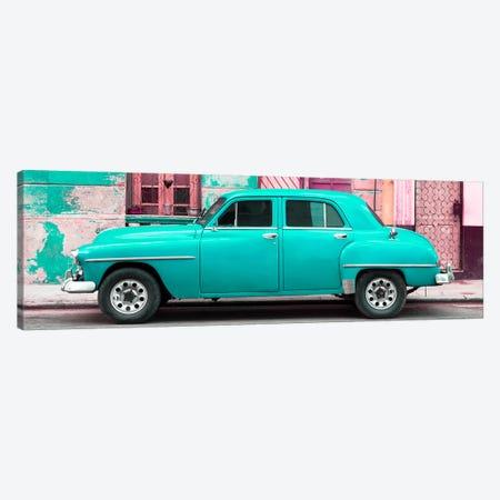 Turquoise Classic American Car Canvas Print #PHD360} by Philippe Hugonnard Canvas Print