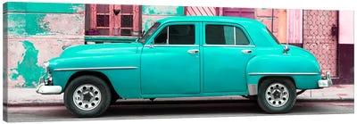 Turquoise Classic American Car Canvas Art Print