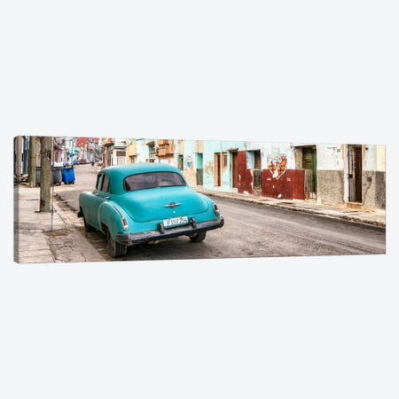 Turquoise Classic Car in Havana Canvas Print #PHD361} by Philippe Hugonnard Art Print