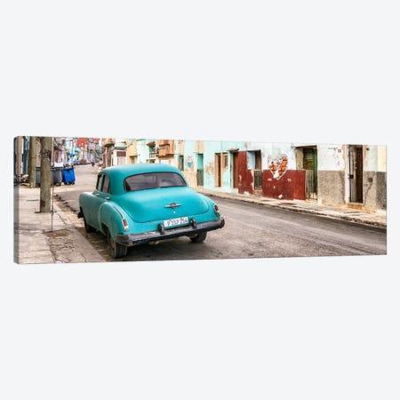Turquoise Classic Car in Havana Canvas Print #PHD361} by Philippe Hugonnard Art Print