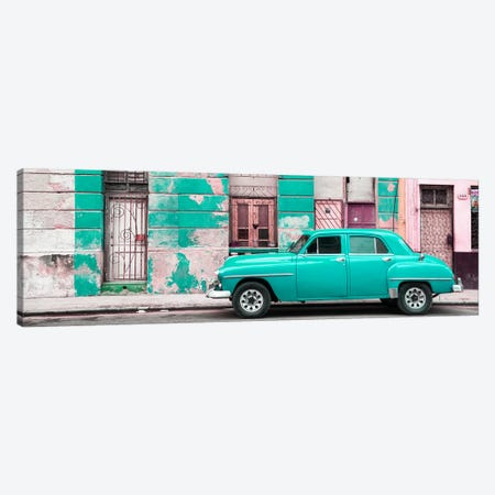 Turquoise Vintage American Car in Havana Canvas Print #PHD362} by Philippe Hugonnard Art Print