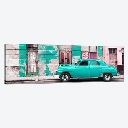 Turquoise Vintage American Car in Havana Canvas Print #PHD362} by Philippe Hugonnard Art Print