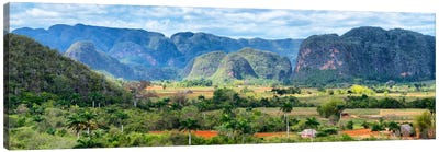Cuba Fuerte Collection Panoramic - Vinales Valley Canvas Art Print