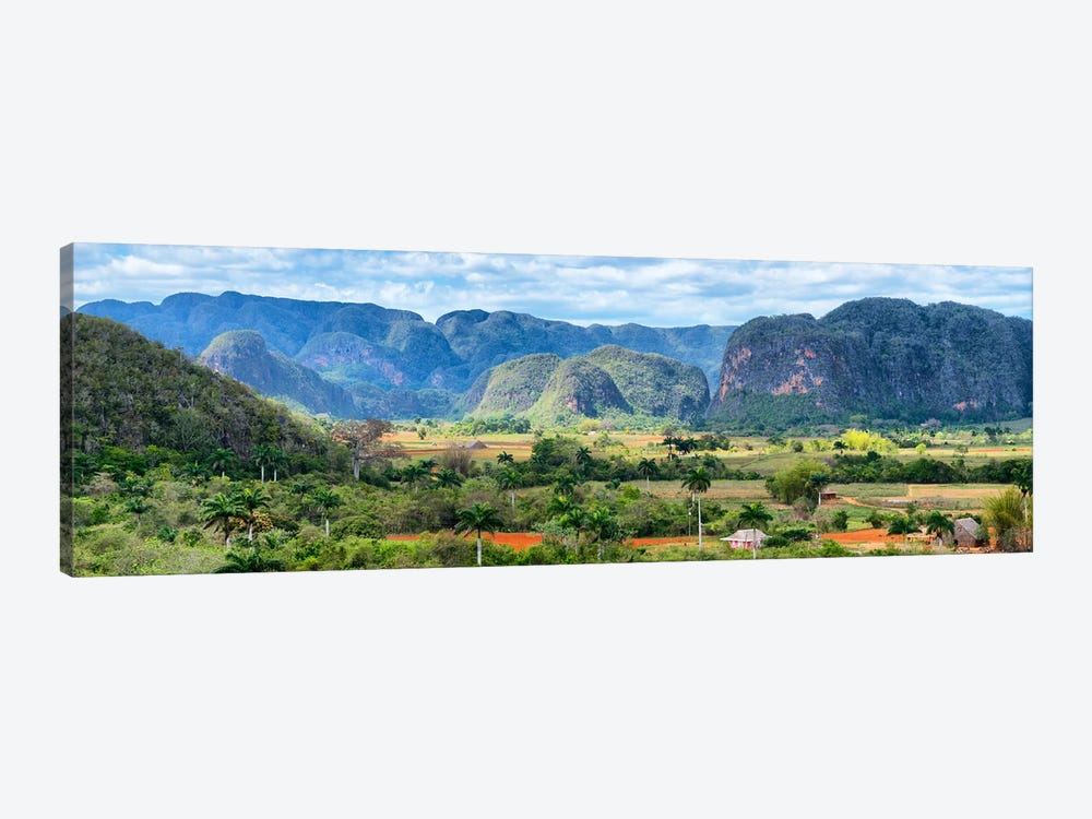 Cuba Fuerte Collection Panoramic - Vinales Valley 1-piece Art Print