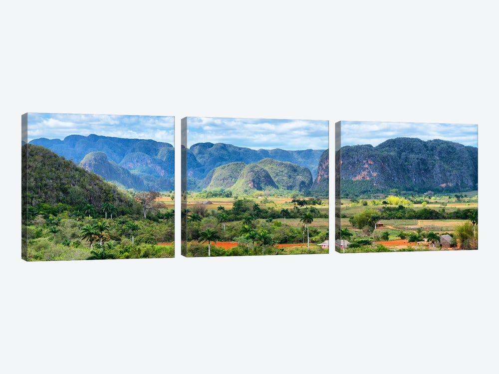 Cuba Fuerte Collection Panoramic - Vinales Valley by Philippe Hugonnard 3-piece Art Print