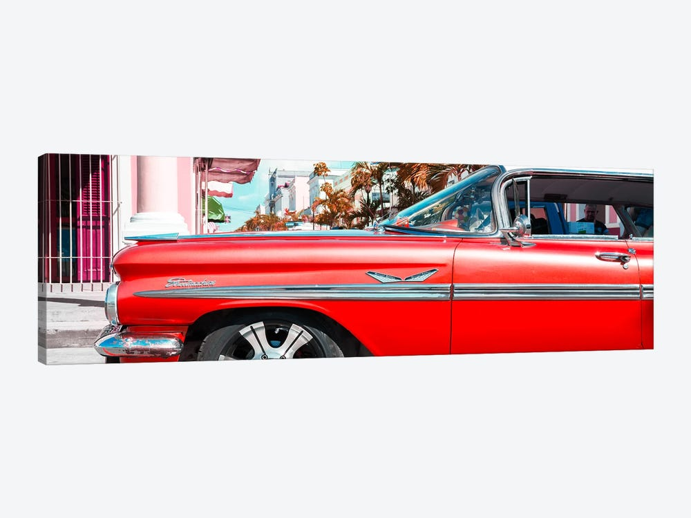 """Vintage Red Car """"Streetmachine"""" by Philippe Hugonnard 1-piece Canvas Art Print"""