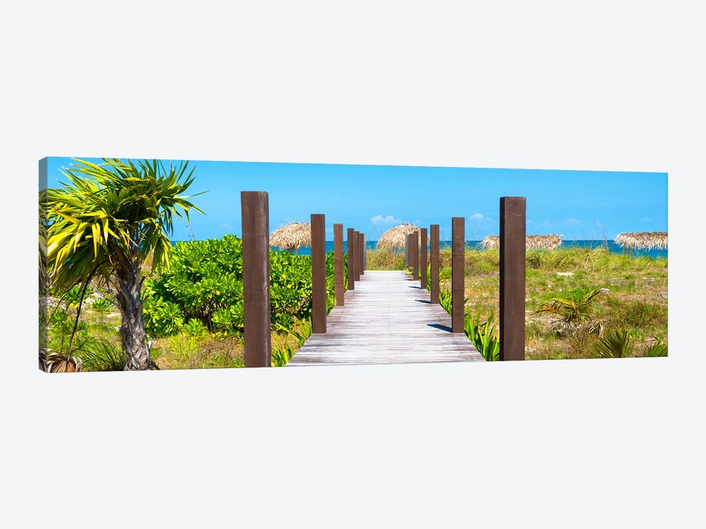 Wooden Jetty On The Beach by Philippe Hugonnard 1-piece Canvas Art Print